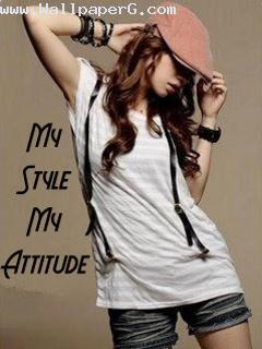 Attitude girl in stylish ego