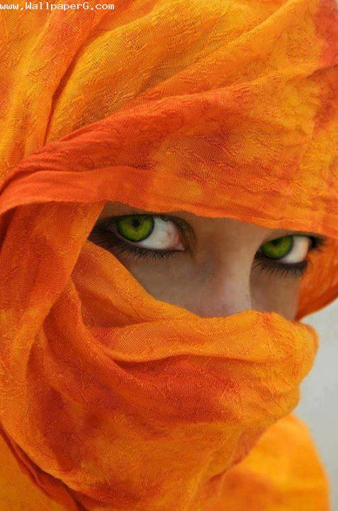 Orange scarf ,wide,wallpapers,images,pictute,photos