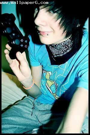 Boy with video game remote ,wide,wallpapers,images,pictute,photos