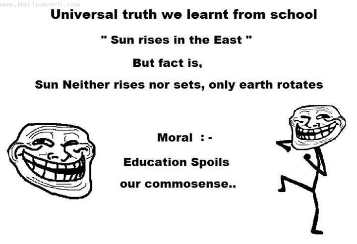 Education spoils our comm