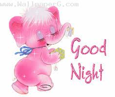 Sweet pinky good night