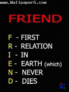 Friendship is first relation