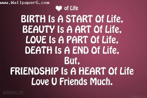Friendship is a heart of life image