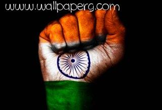 Indian flag unity one hand