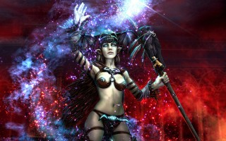 Witch with stick ,wide,wallpapers,images,pictute,photos