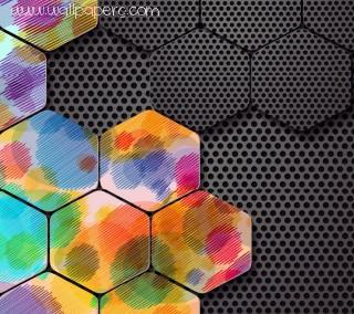 3d hexagons ,wide,wallpapers,images,pictute,photos
