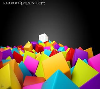 3d colourful squares