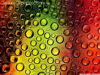 Colorful waterdrops wallp