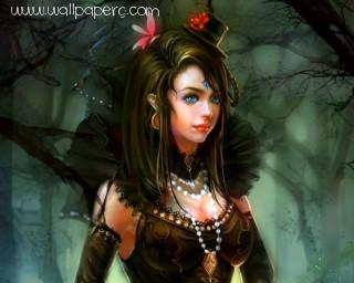 Forest girl ,wide,wallpapers,images,pictute,photos