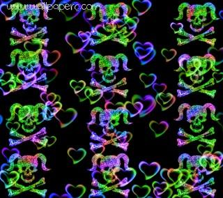 Girly skull n hearts