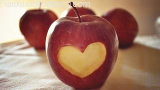 Abstract apple love