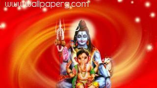 Shiva ji with ganesh ji
