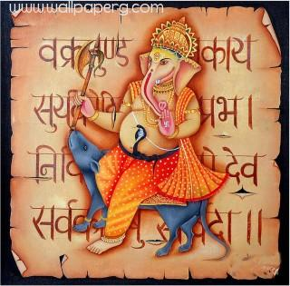 Beautiful painting of lord ganesha ji