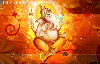 Ganeshji with mantras jee ,wallpapers,images,