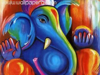Painting of lord ganesha jee ,wallpapers,images,