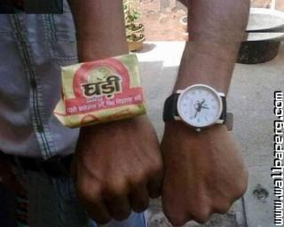 Ghadi detergent funny indian wrist watch