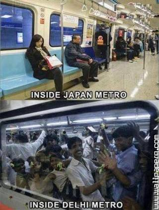 Metro train india funny