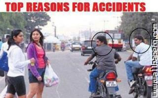 Road accident reason funn