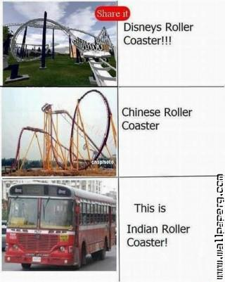 Roller coaster of funny india