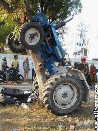 Tractor accident funny india ,wide,wallpapers,images,pictute,photos