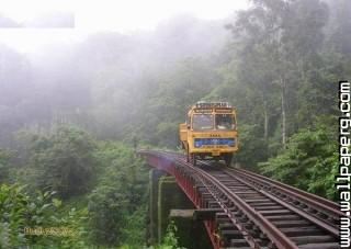 Truck driving on railway track funny india