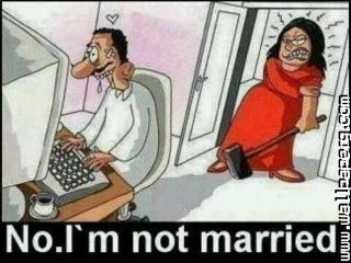 Married man angry wife
