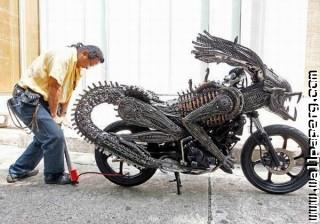 Alien bike amazing ,wide,wallpapers,images,pictute,photos