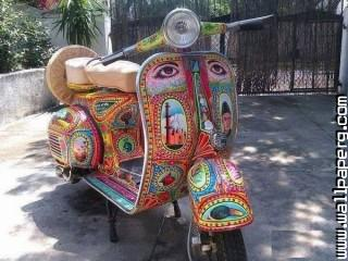 Classic bike amazing art pakistan