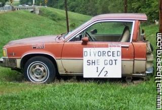 Divorce car funny ,wide,wallpapers,images,pictute,photos