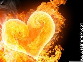Amazing flaming heart wal