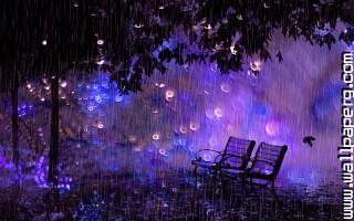 Rain in the night.