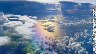Glorious rainbow from above ,wallpapers,images,