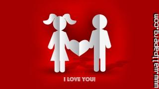 3d couple i love you