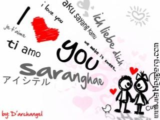 Say love you in different words and languages