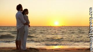Couple in love at sunset ,wide,wallpapers,images,pictute,photos