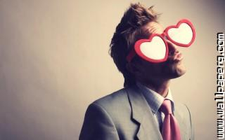 Funny glasses hearts love men awesome wallpaper