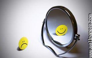 Funny mirrors smiley smil