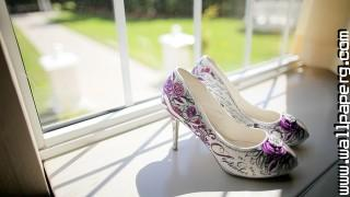 Wedding shoes ,wide,wallpapers,images,pictute,photos