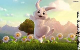 Happy easter bunny wallpaper