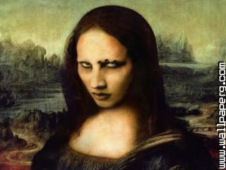 Gothic marilyn manson mona lisa awesome wallpaper ,wide,wallpapers,images,pictute,photos