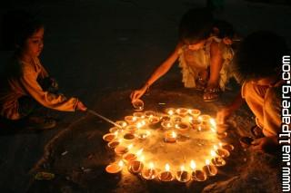 Lighting diyas hd wallpap