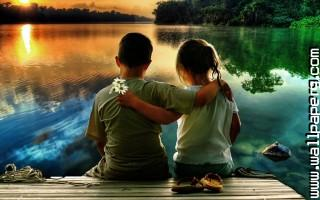 Cute kid couple ,wide,wallpapers,images,pictute,photos