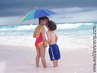 Cute kid kissing