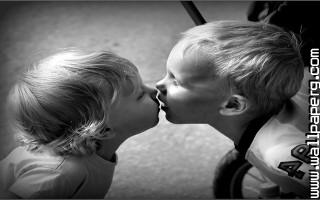 Cute baby kissing 1