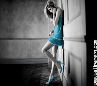 Girl blue dress