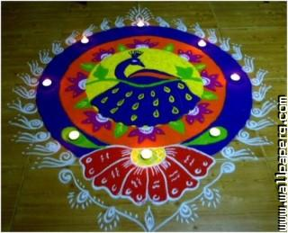 Peacock diwali rangoli designs ,wide,wallpapers,images,pictute,photos