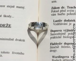 Love ring on book