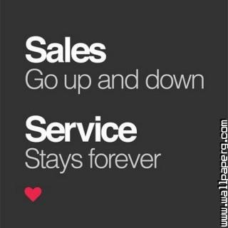 Sales vs service motivational quotes