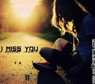 Alone girl missing him