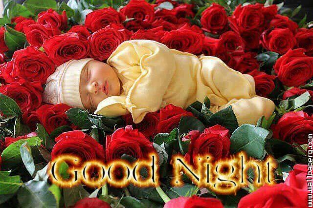 Sweet baby good night wallpaper